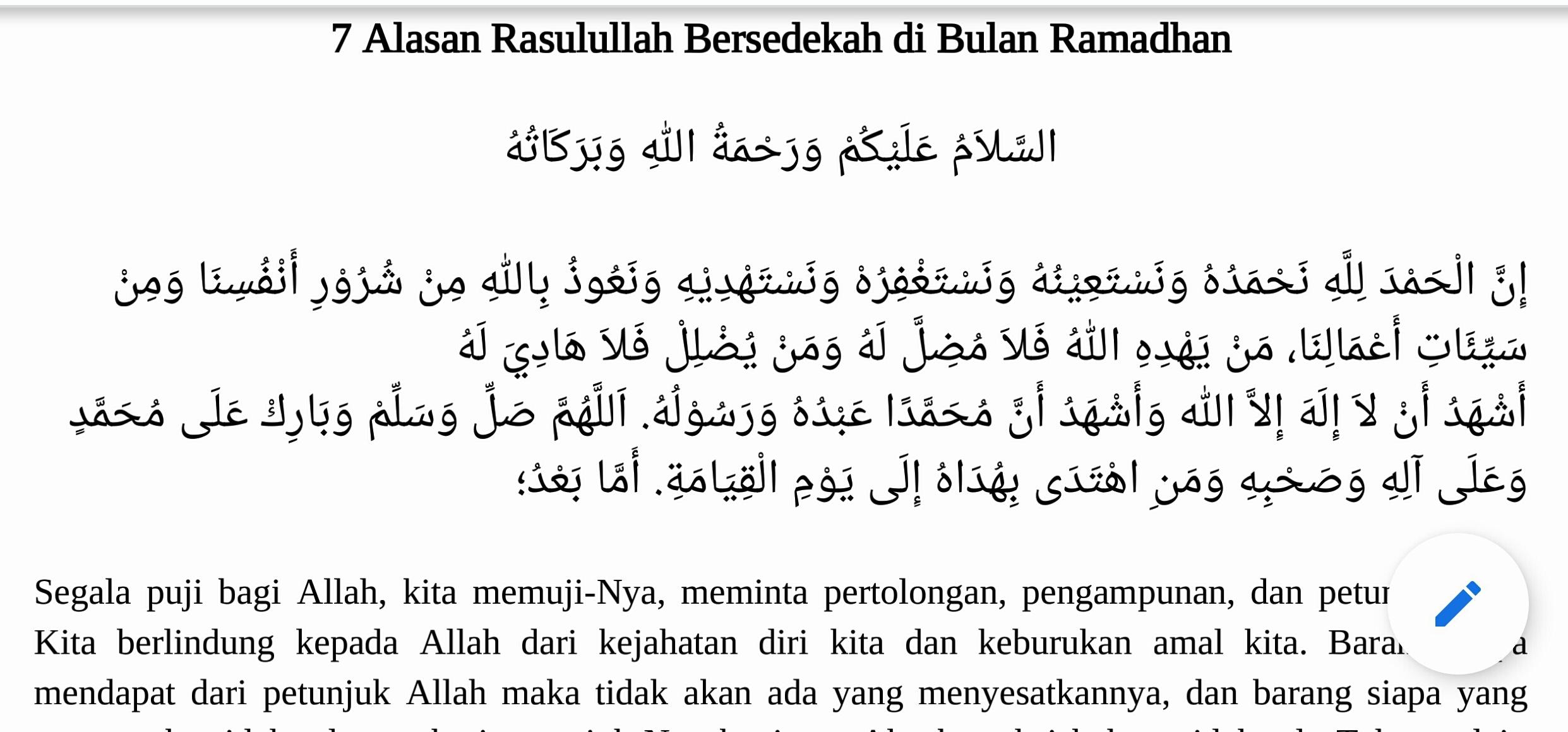7 Alasan Rasulullah Bersedekah Di Bulan Ramadhan