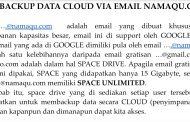 Cara Backups Data Cloud Dengan Email