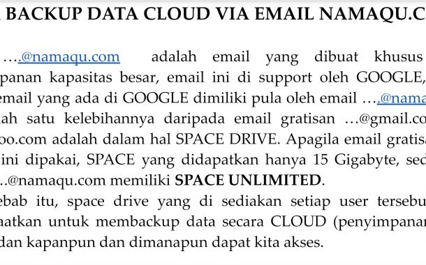 Cara Backups Data Cloud Dengan Email